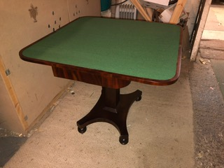 Green and mahogany table
