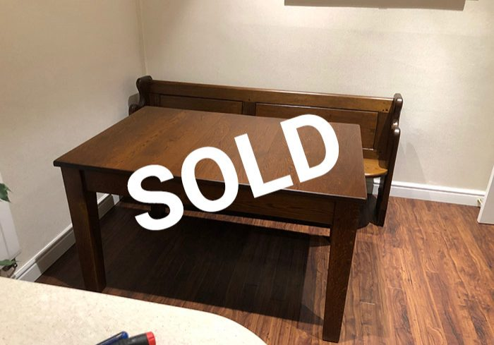 Sold wooden table
